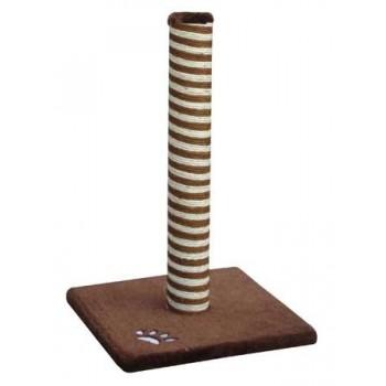 FAUNA INT / Фауна Интернешнл Когтеточка для кошек CLASSIC в виде столбика из сизаля с основанием 40х40х63см (коричневая) FICP-1111-0002
