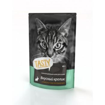 TASTY Petfood ПАУЧ д/кошек с кроликом в желе 85г*25 (02TS792)