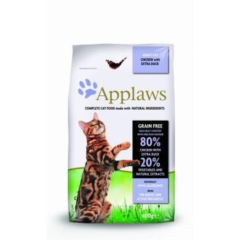 "Applaws / Эпплаус для кошек ""Курица и Утка/Овощи: 80/20%"" 0,4 кг"