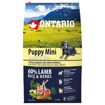 Ontario / Онтарио для щенков малых пород с ягненком и рисом 6,5 кг