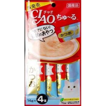 Inaba Чао Чуру пюре для кошек тунец бонито, 56 гр