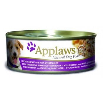 Applaws / Эпплаус Консервы для Собак с Курицей, Ветчиной и овощами 0,156 кг