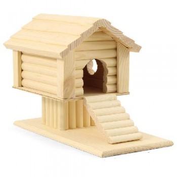 Gamma / Гамма Домик-избушка на подставке для мелких животных деревянный, 240*145*175мм