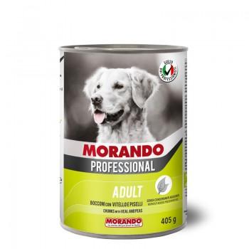 Morando / Морандо Professional консервированный корм для собак с кусочками телятины и горохом, 405г, жб