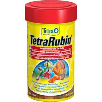 TetraRubin / Тетра корм в хлопьях для улучшения окраса всех видов рыб 100 мл