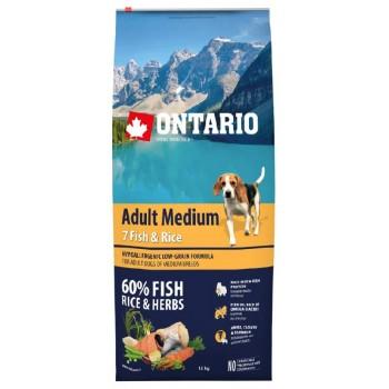 Ontario / Онтарио для собак с 7 видами рыбы и рисом 12 кг