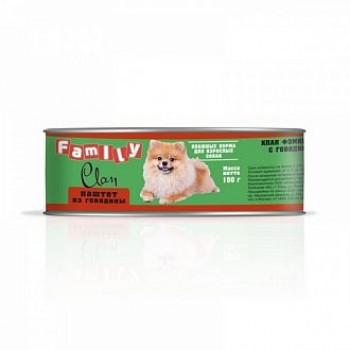 Clan / Клан Family консервы д/собак паштет из говядины, 0,1 кг