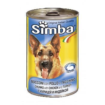 Simba / Симба Dog консервы для собак кусочки курица с индейкой 1230 г