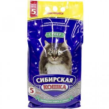 Сибирская Кошка Супер 5л комкующийся