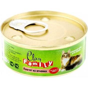 Clan / Клан Family консервы д/кошек паштет из ягнёнка, 0,1 кг