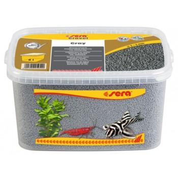 Sera / Сера грунт для аквариума Gravel Gray (Серый) 2-3 мм. 6 л.