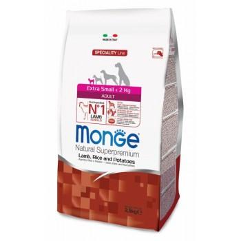Monge / Монж Dog Speciality Extra Small корм для взрослых собак миниатюрных пород ягненок с рисом и картофелем 2,5 кг