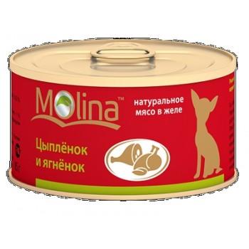 Molina / Молина Консервы д/собак Цыпленок с ягненком, 85г