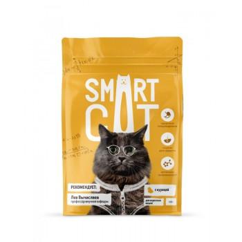 Smart Cat / Смарт Кэт сухой корм для взрослых кошек с курицей , 0.4 кг