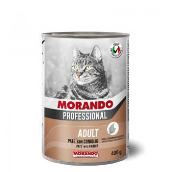 Morando / Морандо Professional консервированный корм для кошек паштет с кроликом, 400г, жб
