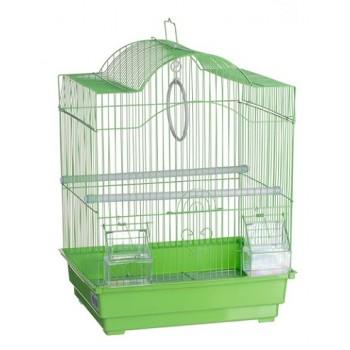 Kredo А113 Клетка д/птиц цветная 30*23*39см фигурная, комплект