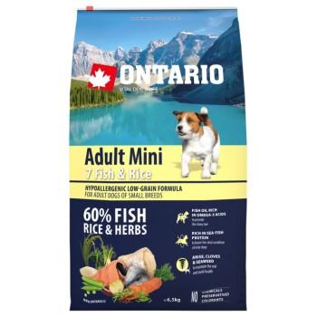 Ontario / Онтарио для собак малых пород с 7 видами рыбы и рисом 6,5 кг