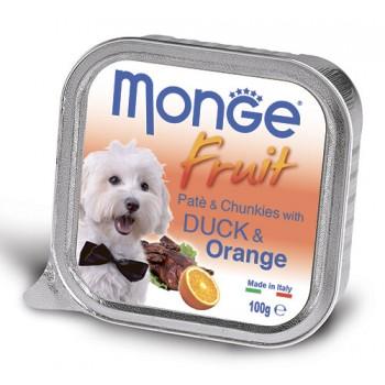 Monge / Монж Dog Fruit консервы для собак утка с апельсином 100г