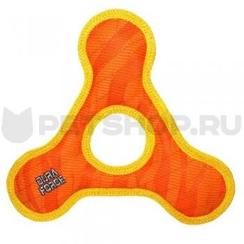 Tuffy / Таффи Супер прочная игрушка для собак Треугольник с круглым отверстием, оранжевый с желтым, прочность 9/10