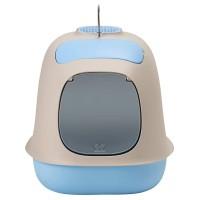 """United Pets био-туалет """"Min?"""" в комплекте с совочком, пакетами для уборки и угольным фильтром, 40х40х50 см, серый/голубой"""
