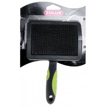 Zolux / Золюкс Щетка-пуходерка пластиковая с гибкими щетинками большая, L