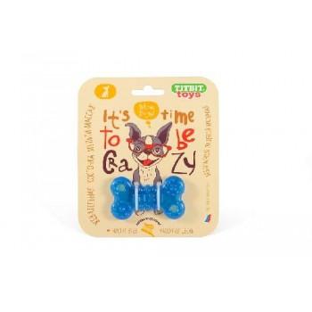 TitBit / ТитБит Игрушка жевательная Косточка 7 см (голубой)