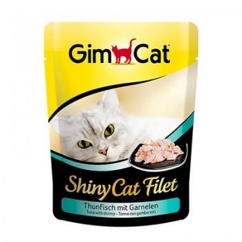 Gimcat / ГимКэт пауч Shiny Cat Filet тунец с креветками д/кошек, 70г