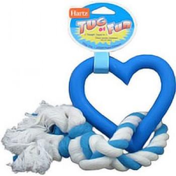 Hartz / Хартц Игрушка д/собак - Сердце с канатом, каучук Tug Of Fun Dog Toy, 27cm