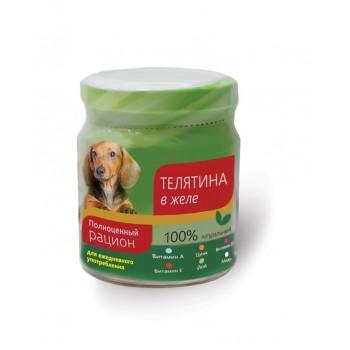TitBit / ТитБит Консервы для собак телятина в желе 100 г - банка стекло (1x6)