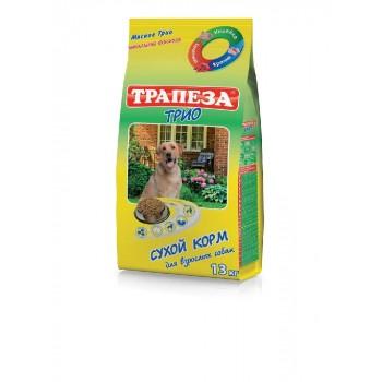 Трапеза ТРИО сух.корм д/собак Индейка/Кролик/Телятина 13кг