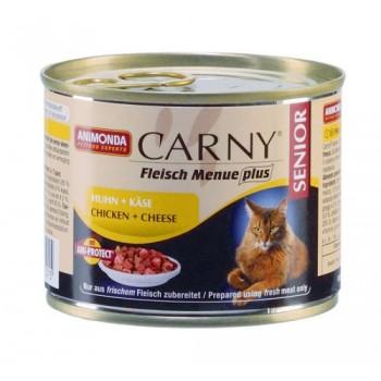 Animonda Carny Senior с говядиной, курицей и сыром для стареющих кошек конс. 200 гр 83710