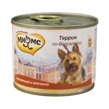 Мнямс консервы для собак Террин по-Версальски (телятина с ветчиной) 200 г