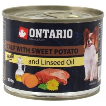 Ontario / Онтарио Консервы для собак малых пород: телятина и батат 0,2 кг