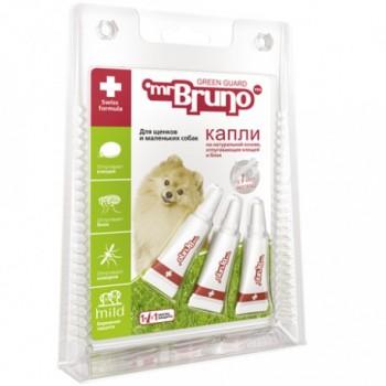 Mr.Bruno / М.Бруно Капли репеллентные д/щенков и маленьких собак до 10 кг 1мл