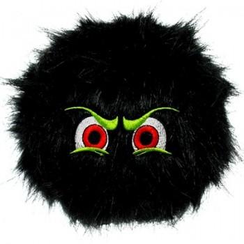 Silly Squeakers Игрушка-пищалка для собак Пушистый мяч с глазами большой, черный (iBall Large Black) SS-IB-L-BL