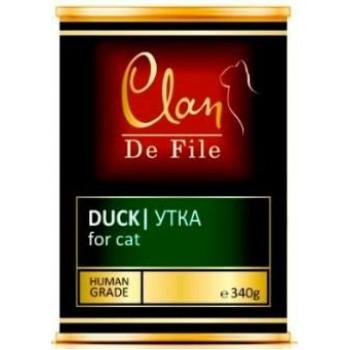 Clan / Клан De File консервы для кошек Утка, 0,34 кг