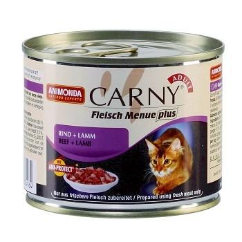 Animonda Carny Adult конс. 200 гр. с говядиной и ягненком для взрослых кошек 83705