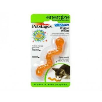 "Petstages / Петстейджес игрушка для кошек Energize ""ОPKA червяк"" 11 см"
