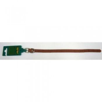 Аркон Ошейник кожаный 14, размер 22-29 см x 14 мм тиснение f1, цвет коньячный, о14фк, один слой кожи (35232)