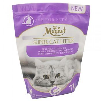 Magnet Наполнитель комкующийся, растительный Super Cat Litter, Lavender 7 л