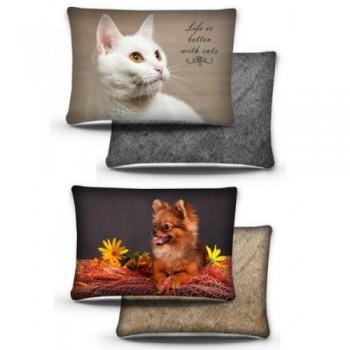 PERSEILINE ПОДУШКА Дизайн 3D фотопечать №3 с кошкой/собакой 44*33 (00226/ПД-3)