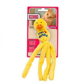 """Kong / Конг игрушка для кошек """"Вубба-уточка"""" плюш с тубом кошачьей мяты цвета"""