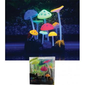 Jelly-Fish / Джелли-Фиш Грибы разноцветные силиконовые, с узорами, 9*7*11 см