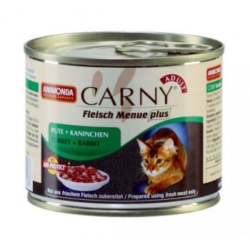 Animonda Carny Adult конс. 200 гр. с говядиной, индейкой и кроликом для взрослых кошек 83709