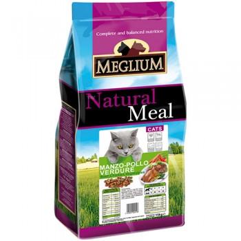 MEGLIUM / МЕГЛИУМ Adult Корм сух.1,5 кг для кошек говядина курица овощи MGS0101