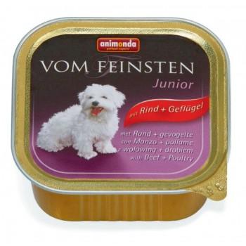 Animonda Vom Feinsten Junior конс. 150 гр. Домашняя птица / говядина для щенков и Юниоров(ламистер) 82972 (82620)