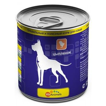 VitAnimals / ВитЭнималс консервы д/собак Цыпленок 750гр