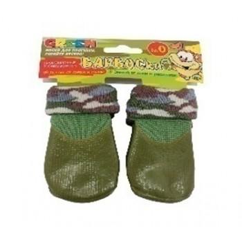 БАРБОСки носки д/собак, высокое латексное покрытие, цвет - зеленый размер - 0