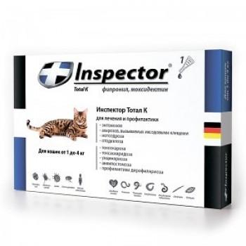 Inspector / Инспектор инсекто-акарицидные капли от всех паразитов для кошек (до 4 кг)
