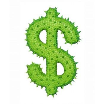 """Ziver / Зивер Игрушк """"Доллар с шипами зеленый"""", 13 см"""